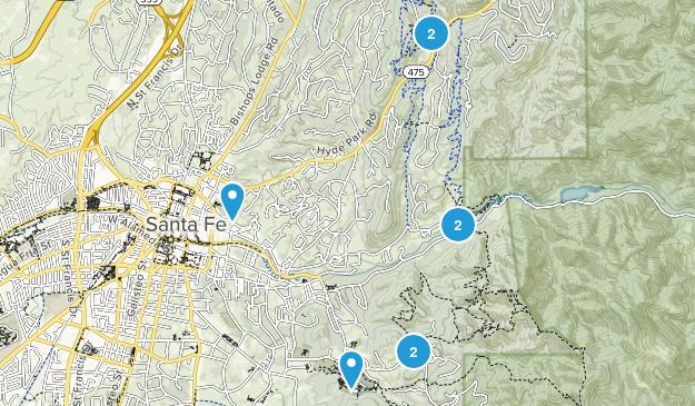 Santa Fe Easy Trails Map