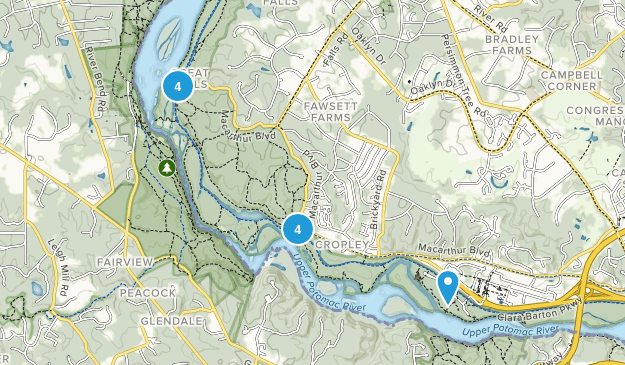 Great Falls Park, MD Map