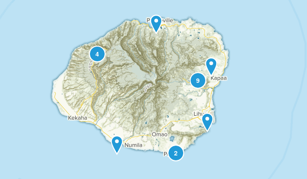 Kauai Hikes Map