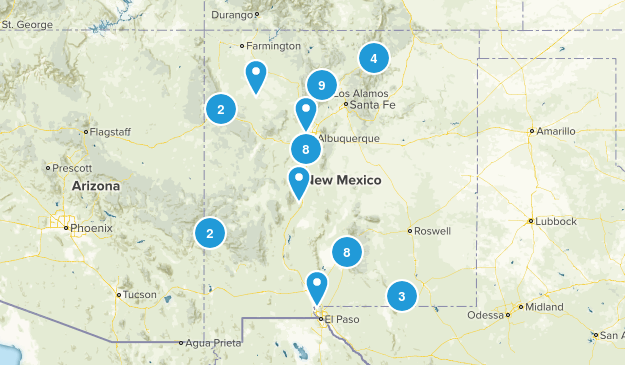 NM Hiking Bucket List 2018-19 Map
