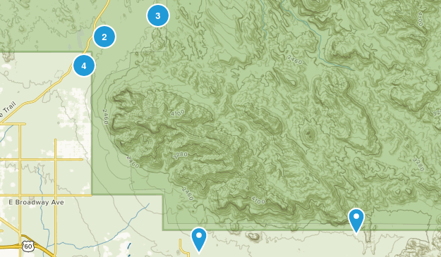 Superstition hikes Map