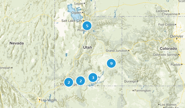 March 2019 Hikes Map