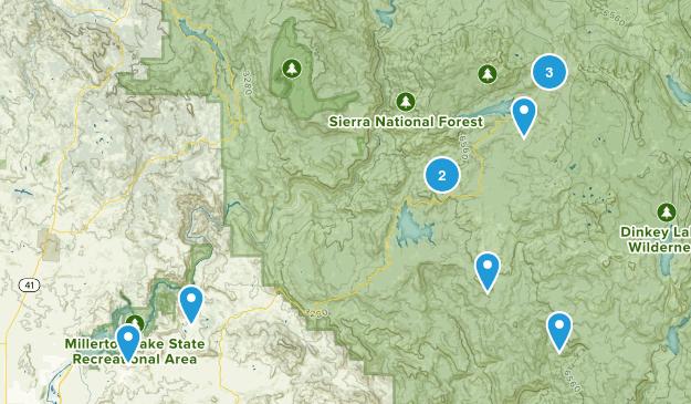 Millerton/Shaver/Huntington/Kaiser Pass Map