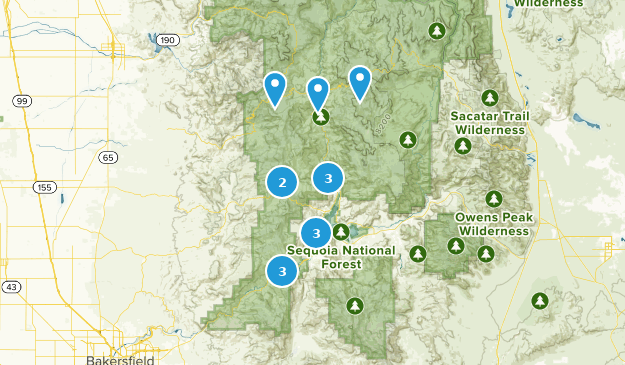 south sequoia  Map