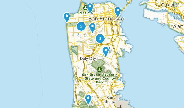 SF Day Hikes Map
