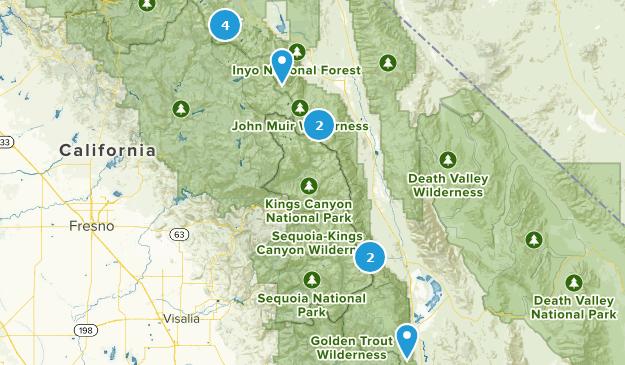 Eastern Sierra Trails Map