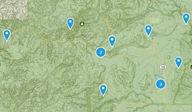 Umpqua National Forest Map