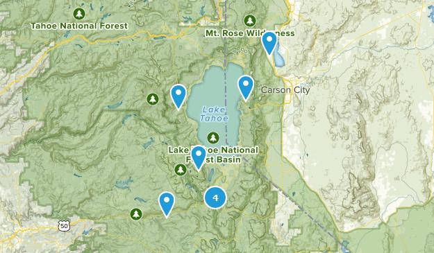 Camping Hikes Map