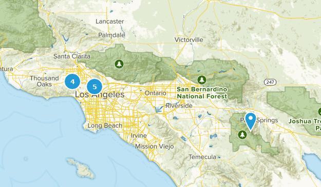 LA hikes Map