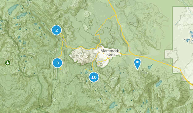 Mammoth Lakes  Map