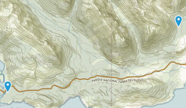 Ushuaia, Tierra Del Fuego Map