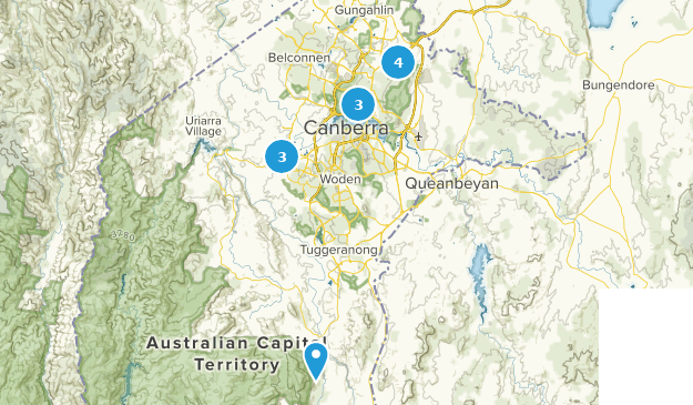 Canberra, Australian Capital Territory Map