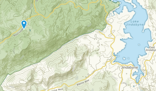 Jindabyne, New South Wales Map