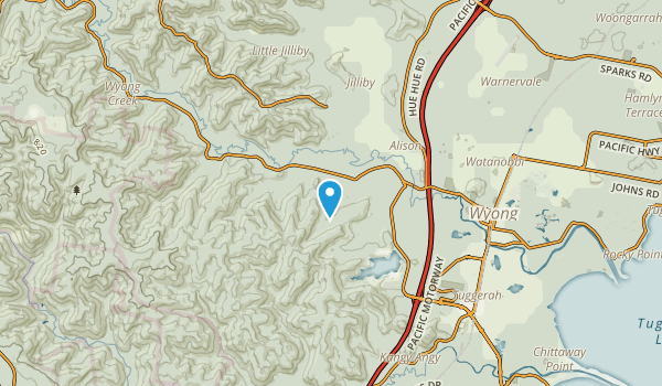 Ourimbah, New South Wales Map