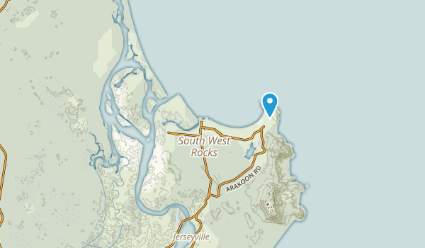 South West Rocks, New South Wales Map