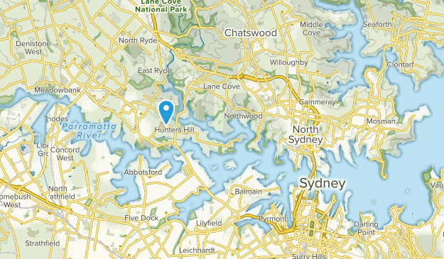 Waverton, New South Wales Map