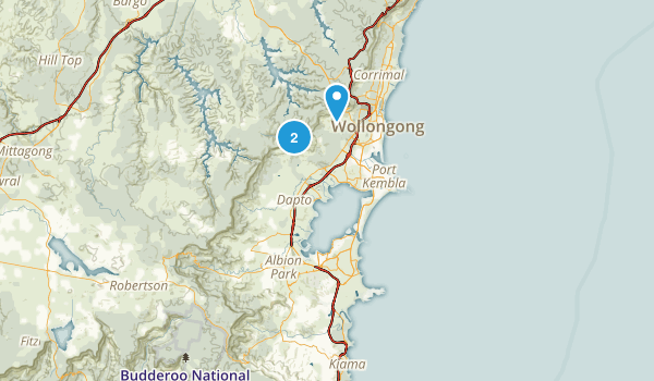 Wollongong, New South Wales Map