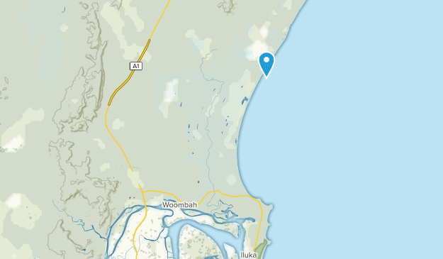 Woombah, New South Wales Map