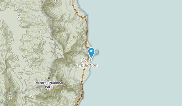 Cape Tribulation, Queensland Map