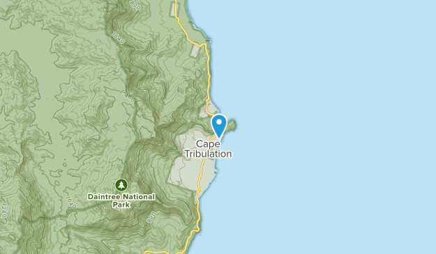 Cape Tribulation, Queensland Map