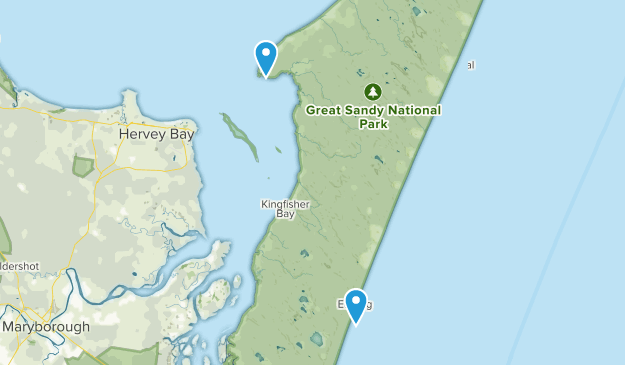 Fraser Island, Queensland Map