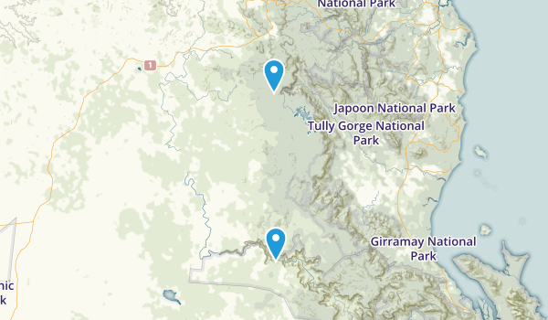 Innot Hot Springs, Queensland Map