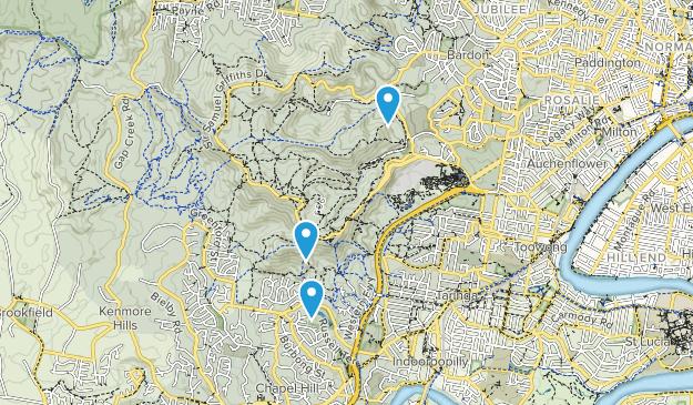 Mount Coot-tha, Queensland Map