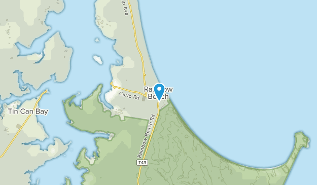 Rainbow Beach, Queensland Map