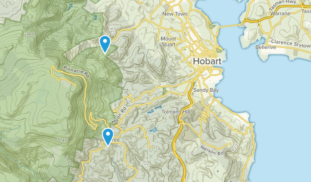 hobart tasmania city map