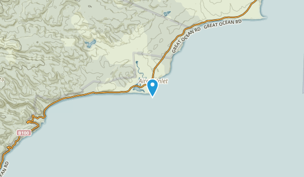 Aireys Inlet - Fairhaven, Victoria Map