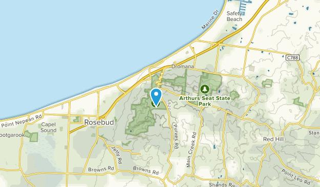 Arthurs Seat, Victoria Map