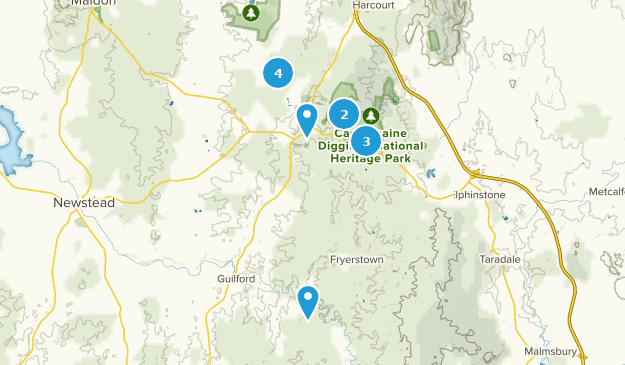 Castlemaine, Victoria Map