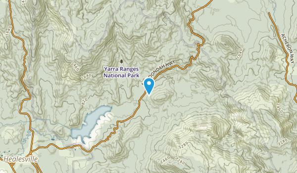 Healesville, Victoria Map