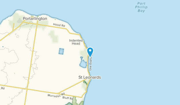 Indented Head, Victoria Map