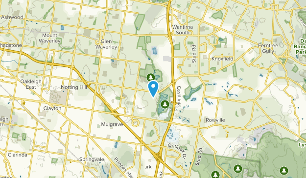 Wheelers Hill, Victoria Map