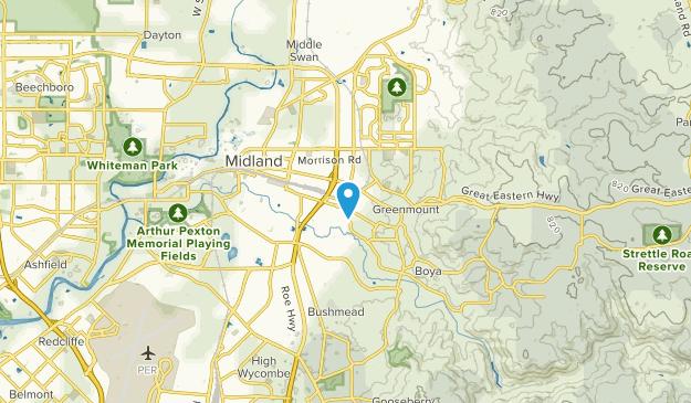 Bellevue, Western Australia Map