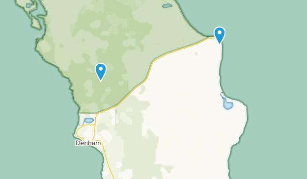 Denham, Western Australia Map