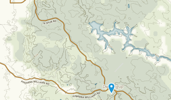 Dwellingup, Western Australia Map