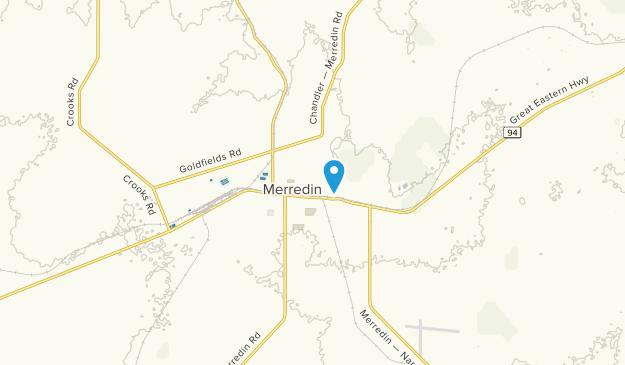 Merredin, Western Australia Map
