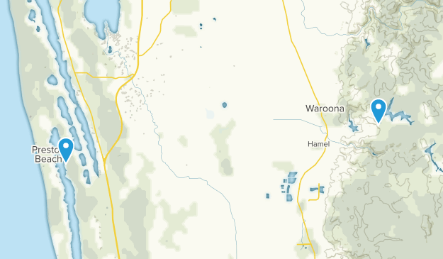 Waroona, Western Australia Map
