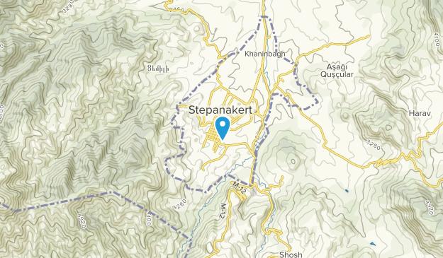 Stepanakert, Xocavənd Map