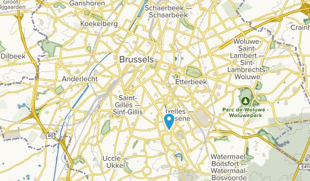 Arrondissement Brussel-Hoofdstad, Brussels-Capital Region Map