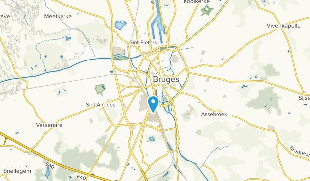 Arrondissement Brugge, West-Vlanderen Map