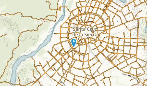 El Pari, Santa Cruz Map