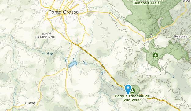 Ponta Grossa, Parana Map