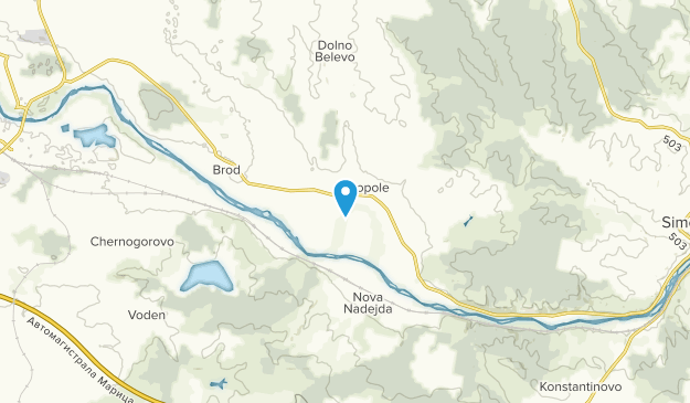 Zlatopole, Haskovo Map