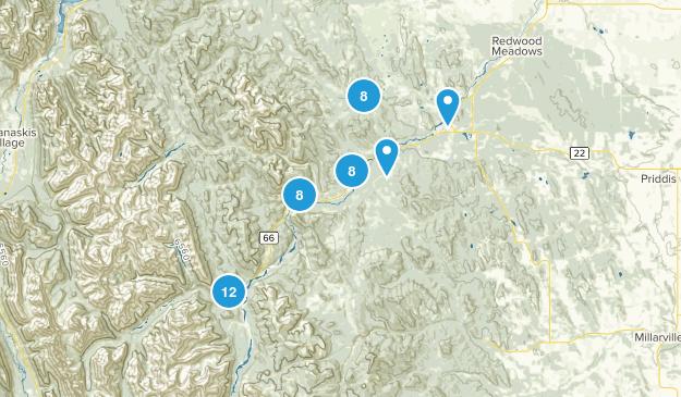 Bragg Creek, Alberta Map