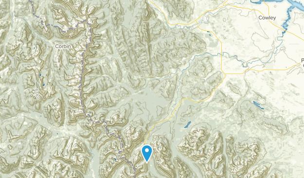 Hillcrest Mines, Alberta Map