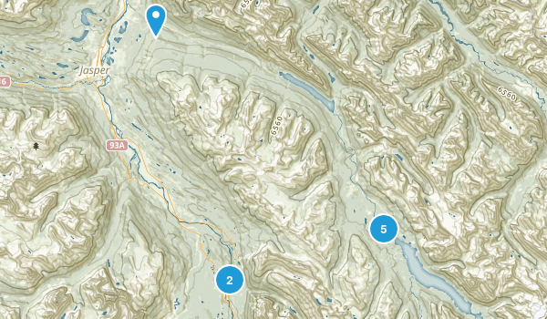 Jasper Park Lodge, Alberta Map