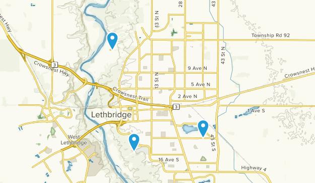 Lethbridge, Alberta Map